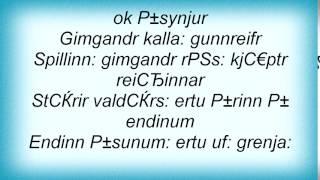 Arckanum - RГёkulfargnГЅr Lyrics