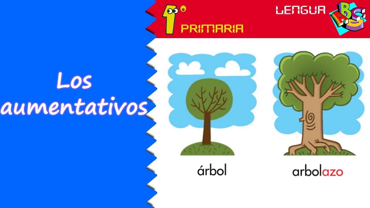Lengua Castellana. 1º Primaria. Tema 7: Los aumentativos