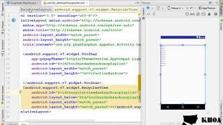 Bài 33: Thiết kế giao diện cho màn hình các playlist