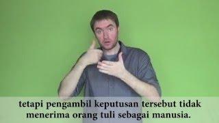 Pentingnya berkomunikasi dalam bahasa isyarat