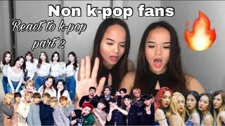 NON K-POP FAN REACTS TO K-POP PART 2  (BTS, EXO, TWICE, RED VELVET)