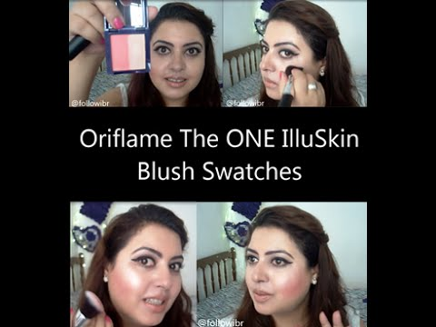 Oriflame The ONE IlluSkin Blush Swatches | IndianBeautyReviewer