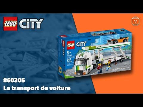 Vidéo LEGO City 60305 : Le transport de voiture