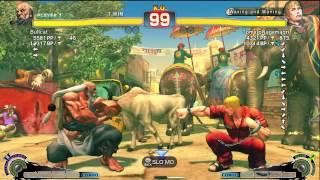 Bullcat (Gouken) Vs Tomato (Cody) AE2012 Endless Matches *720p HD*