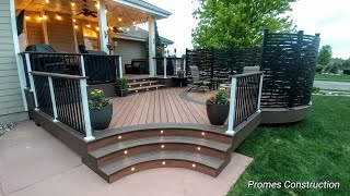 Custom Curved Composite/Pvc  Deck