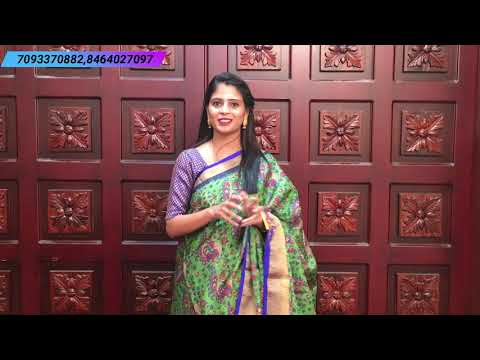 "<p style=""color: red"">Video : </p>Chenderi sarees Collections In Low Price 