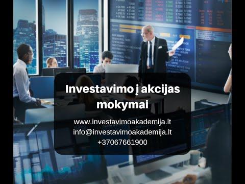 Uždarbis internete investavus 2020 m
