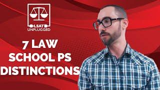 7 Law School Personal Statement Distinctions