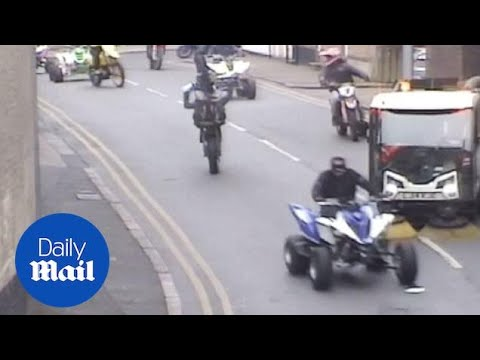 Police release CCTV of biker gang in Nottinghamshire - Daily Mail