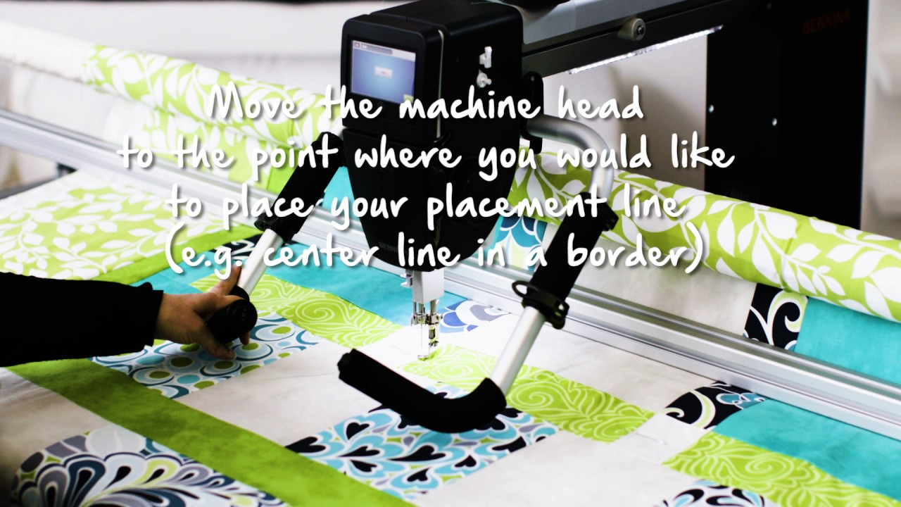 BERNINA Q-matic Video Tutorial: Align