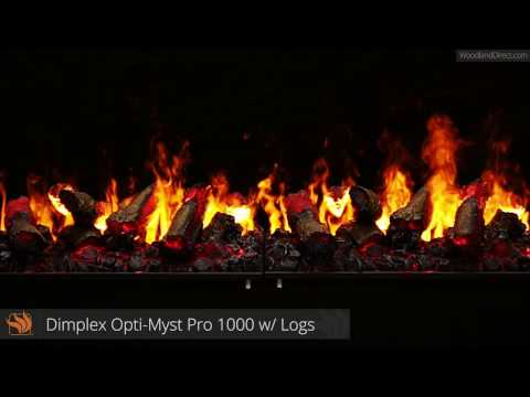 Opti-Myst Pro 1000 Electric Fireplace with Logs