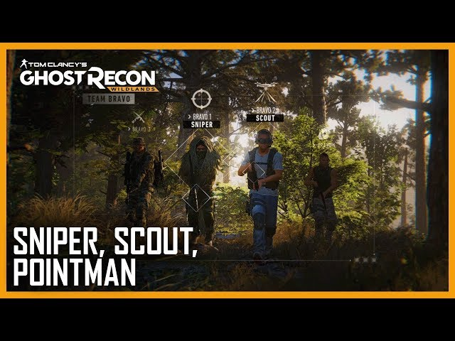 Ghost Recond Wildlands Sniper, Scout, Pointman