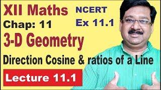 Basics, Direction Cosines & Ratios of a Vector   CBSE 12