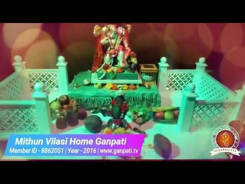 Mithun Vilasi Home Ganpati Decoration Video