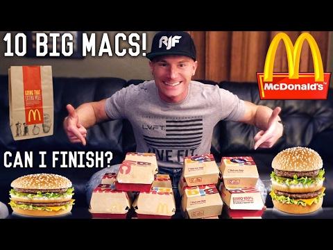 The 10 Big Mac Challenge   Epic Cheat Meal
