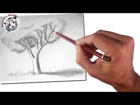 C mo ense ar a dibujar a ni os un rbol realista - Como pintarse bien ...