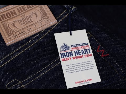 SUPER HEAVY SELVEDGE DENIM: Iron Heart 21oz IH555-01 *REVIEW*