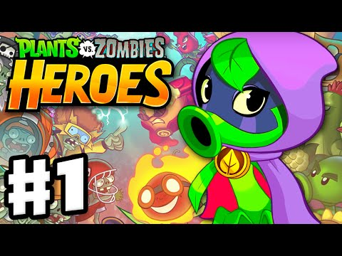 Plants vs. Zombies: Heroes - Gameplay Walkthrough Part 1 - Green Shadow Hero & Intro! (iOS, Android)