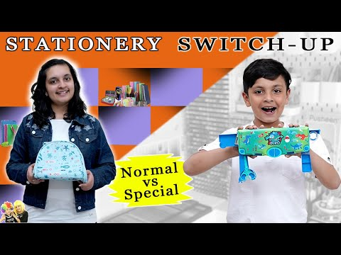 STATIONERY SWITCHUP CHALLENGE | Normal vs Special | Aayu and Pihu Show