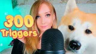 ASMR 300 TRIGGERS IN 10 MINUTES  (Fast asmr Triggers)