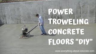 HOW TO FINISH A CONCRETE FLOOR | POWER TROWELING SECRETS