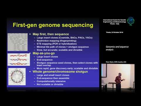 , title : 'P. Myler - Genomics and sequence analysis