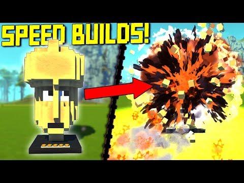 When Big Brain Gets Too Big... [Speed Builds] - Scrap Mechanic