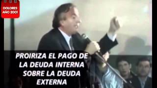NÉSTOR KIRCHNER INICIO DE CAMPAÑA PRESIDENCIAL EN LA LOCALIDAD DE DOLORES 2001