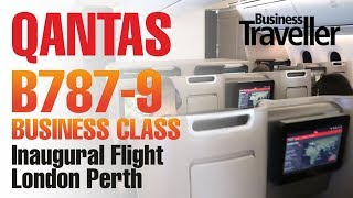 Qantas London to Perth, Boeing Dreamliner 787-9 Business Class