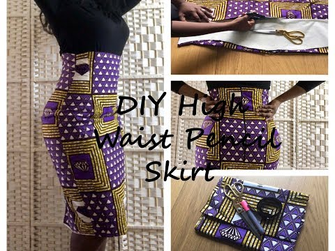 Download ✂DIY High Waist Pencil Skirt Band Less  With Princesses Pattern HD Mp4 3GP Video and MP3