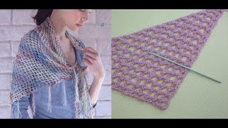 Самая простая шаль крючком видео Урок 47   The easy shawl crochet video