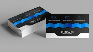 How To Create Professional Business Card Design In Photoshop Free