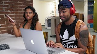 Blasting INAPPROPRIATE Songs in the Library PRANK!! (GOT ARRESTED)