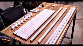 Крепление для удочек из пластиковых труб в гараж своими руками