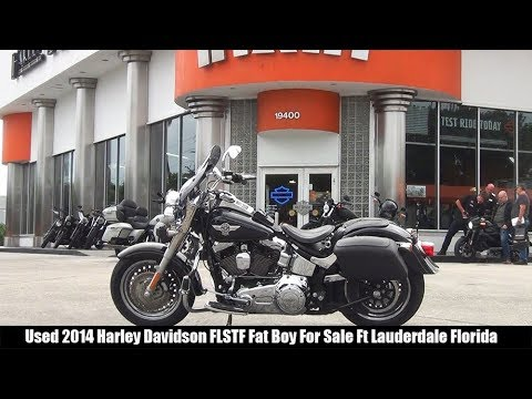 Used 2014 Harley Davidson FLSTF Fat Boy Motorcycle For Sale Miami Florida