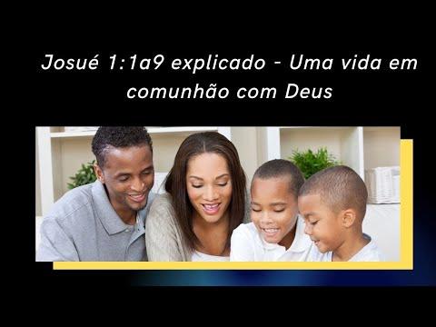 Josu 1:1 a 9 explicado - Uma vida em comunho com Deus  #ensinobblicoeorao #ensinobiblicoeorao