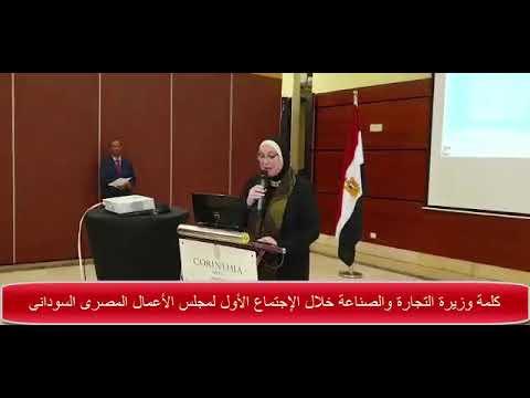 كلمة وزيرة التجارة والصناعة خلال الاجتماع الاول لمجلس الاعمال المصرى السودانى المشترك