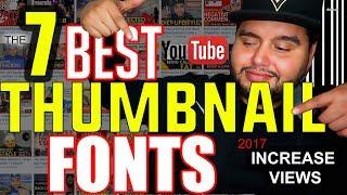 best fonts for thumbnails