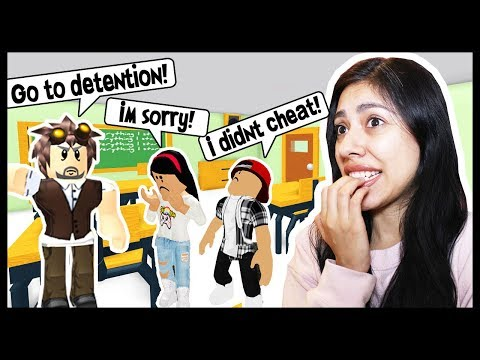 MY BOYFRIEND GOT ME IN DETENTION FOR CHEATING! - Roblox - Escape from Detention