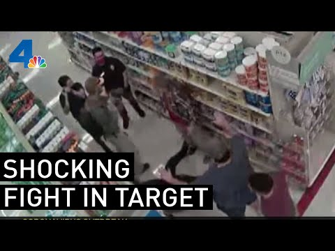 Download Shocking Video Shows Brawl in Target Over Face Masks | NBCLA Mp4 HD Video and MP3