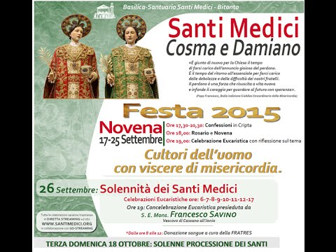 26 SETTEMBRE 2015 - L'OMELIA DI MONS. FRANCESCO SAVINO