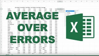 How to average with errors in excel