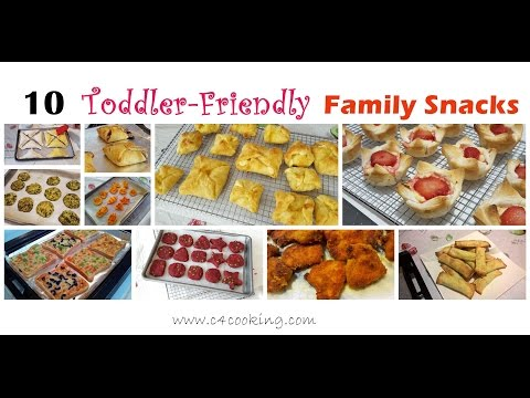 Video 10 Easy Snacks for Toddler & Family | 12+months baby & Family Snacks | Toddler,Kids,Family Snacks |