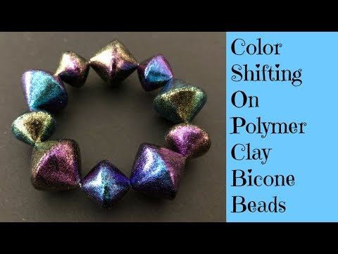 Polymer Clay Tutorial Creating Quick and Easy Bicone Beads Decorated With Dragonfly Glaze
