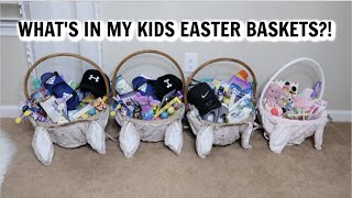 WHAT'S IN MY KIDS EASTER BASKETS 2019 // EASTER BASKET IDEAS FOR BOYS AND BABY GIRL