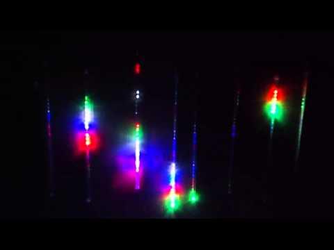 Luces Navideñas Meteoro Lluvia Led Tubos Navidad