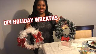 DIY Holiday Wreaths.