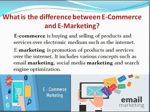 What is the difference between E-Commerce and E-Marketing ? - DIGITAL TECHGURU