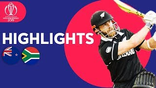 New Zealand vs South Africa | ICC Cricket World Cup 2019 - Match Highlights