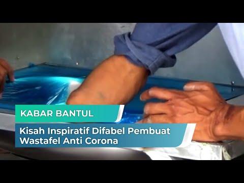 Kisah Inspiratif Difabel Pembuat Wastafel Anti Corona | Kabar Bantul